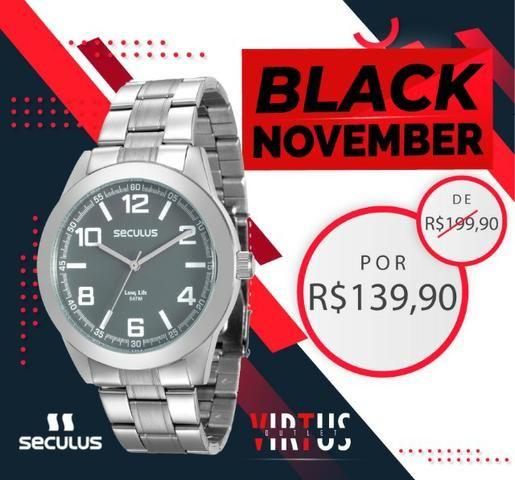 Mega Promoção de Relógio Seculus Masculino de R$ 199,90 por R$ 139,90 - Foto 4