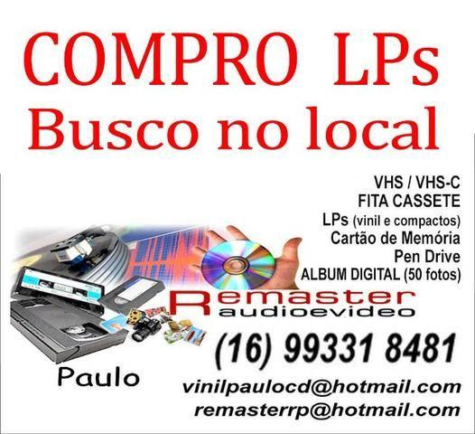 Transformação VHS, VHSc, Lps, Fitas Cassetes para DVD e CD - Foto 2