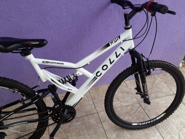 Bicicleta Colli Fulls GPS Aro 26 21 Marchas Suspensão Dupla 220 - Foto 4