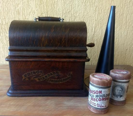 Fonógrafo Gramofone Thomas Edison 1900 - Foto 2