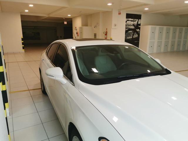Ford/ Fusion Top de LInha - Ano 2015/2015 - Unico dono - Branco com interior caramelo - Foto 9