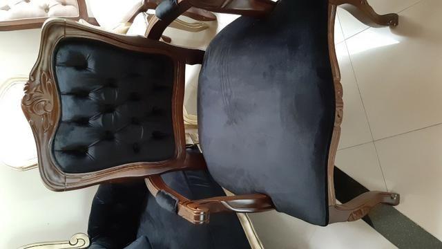 Poltrona Luis XV padrão imbuia - Foto 3