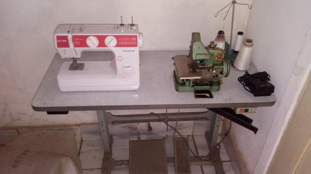Prensa térmica + overlook semi industrial + maquina de de costura reta - Foto 3