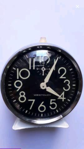Relógio Despertador Antigo Westclox
