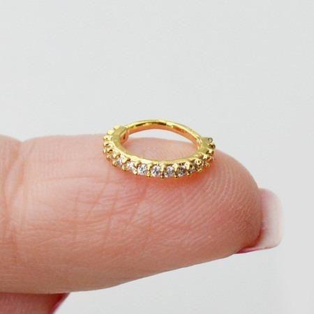 Piercing argola indiana 8mm folheado a ouro
