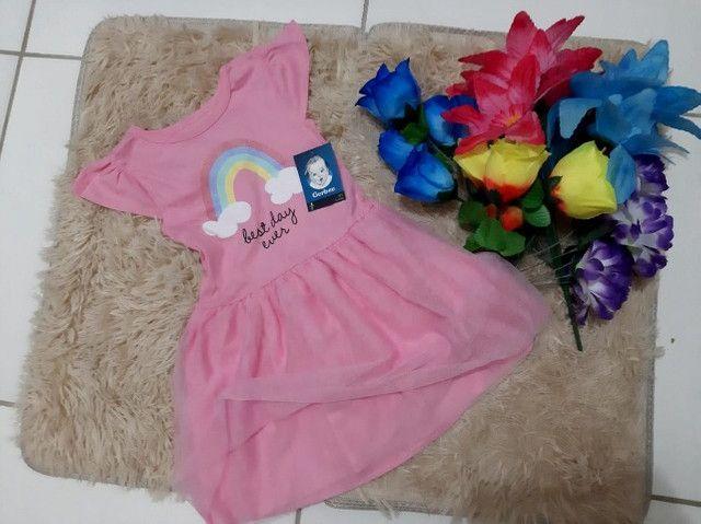 Vestido Gerber Arcoíris C/Tule 3 Anos Importado Promoção