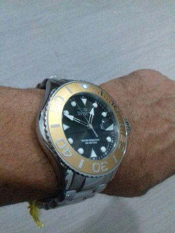 Relógio Invicta 300metros Importado de mergulho profissional de quartzo (modelo: 28767) - Foto 6
