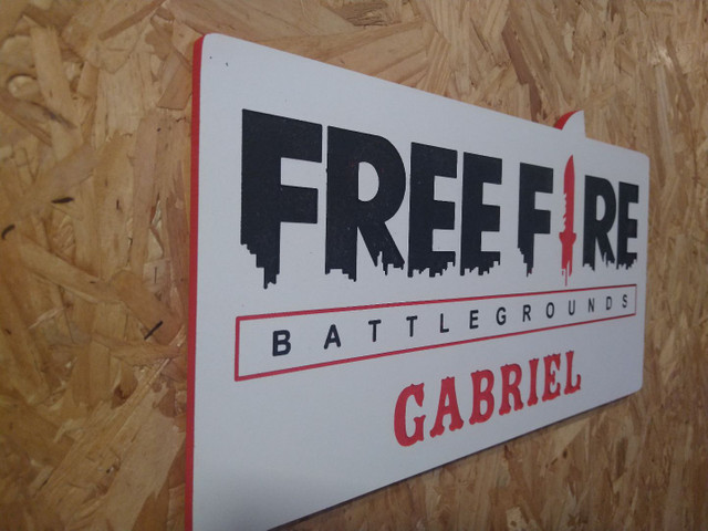 placa decorativa freefire - Foto 4
