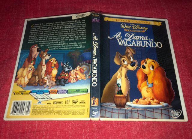 DVD A Dama e o Vagabundo - 1ª Edição - Disney  - Foto 3