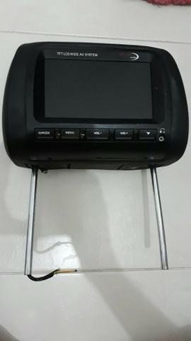 Encosto de cabeça com tela LCD