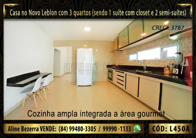 Ampla casa no Novo Leblon com 3 quartos, já com móveis projetados - Foto 3