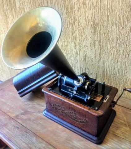 Fonógrafo Gramofone Thomas Edison 1900 - Foto 3