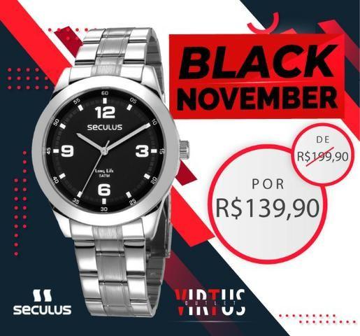 Mega Promoção de Relógio Seculus Masculino de R$ 199,90 por R$ 139,90 - Foto 3