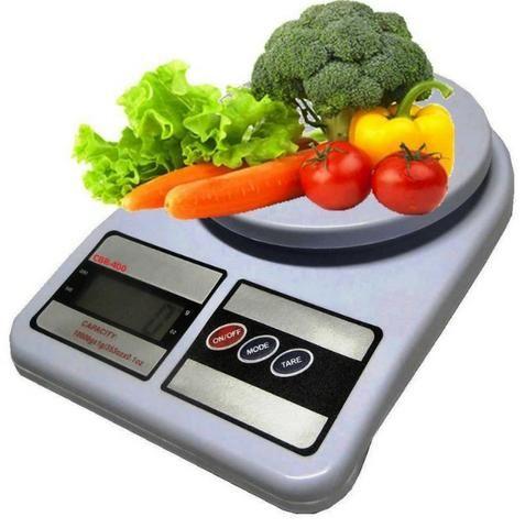 Balança Digital Eletrônica Pesa 1gr Até 10kg Cozinha Sf-400 - Foto 3