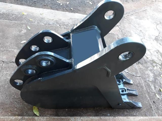 "Caçamba de Retro Escavadeira Case 580N 300mm, 12"" - Foto 5"