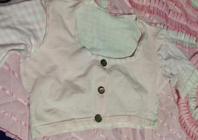 Top cropped rosa