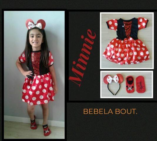 Fantasia infantil Minnie Nova