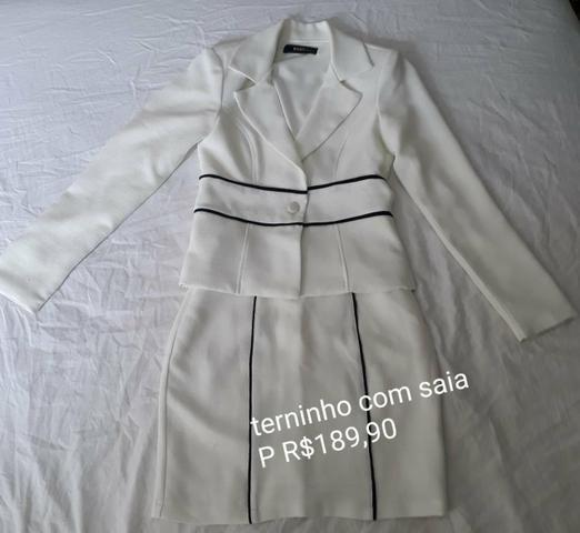 Conjunto terninho + saia