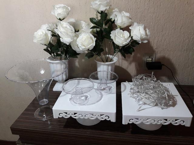 Kit decoração com flores