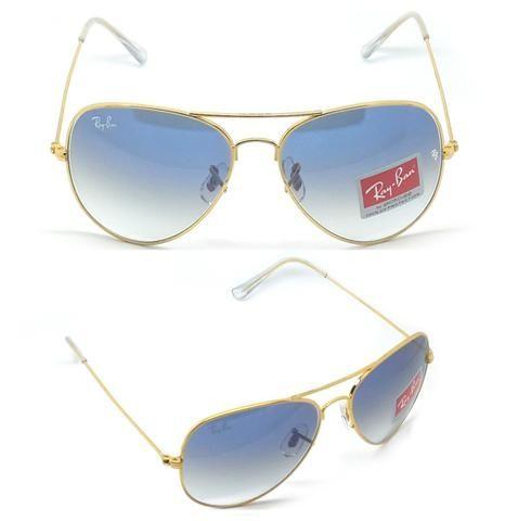 868ca7d9aa627 Óculos de sol Ray Ban Aviador azul - Bijouterias