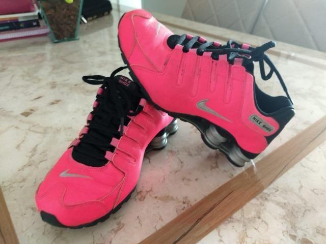 best website f1819 c0223 Tênis Nike Shox Current Pink Preto Prata