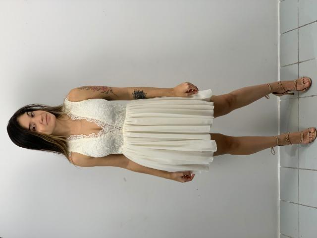 7b62b1a03855 Vestido Branco Curto Arrumado (PP) - Roupas e calçados - Pina ...