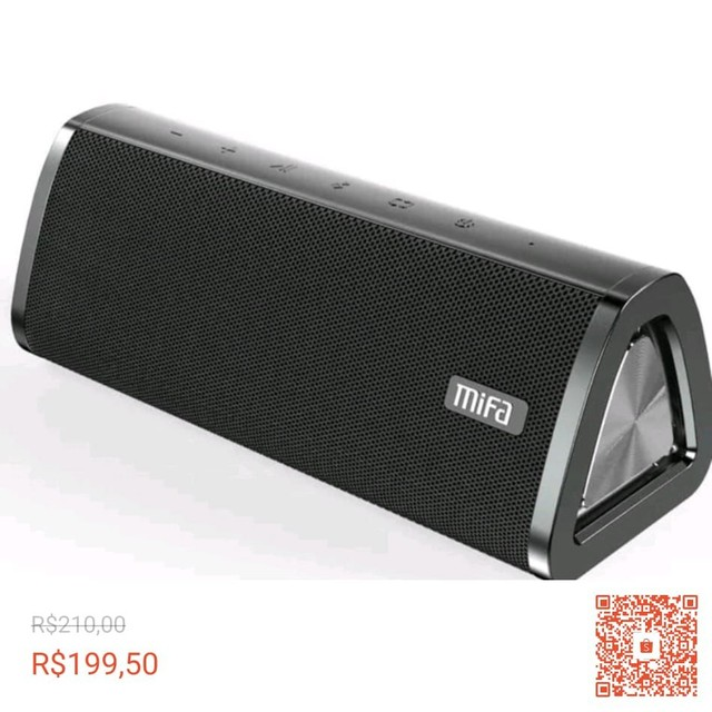 Caixa Som Portátil Mifa A10 Bluetooth 10w - MIFA - À Prova D'água - Black,<br><br> - Foto 5