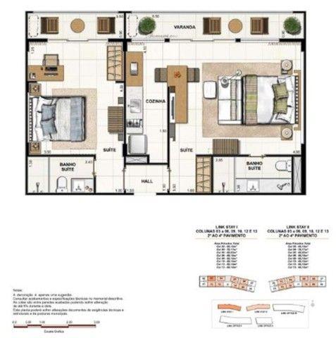 Apartamento à Venda Link Stay na Barra da Tijuca de 78m² com 2 suítes 4 banheiros e 1 vaga - Foto 10