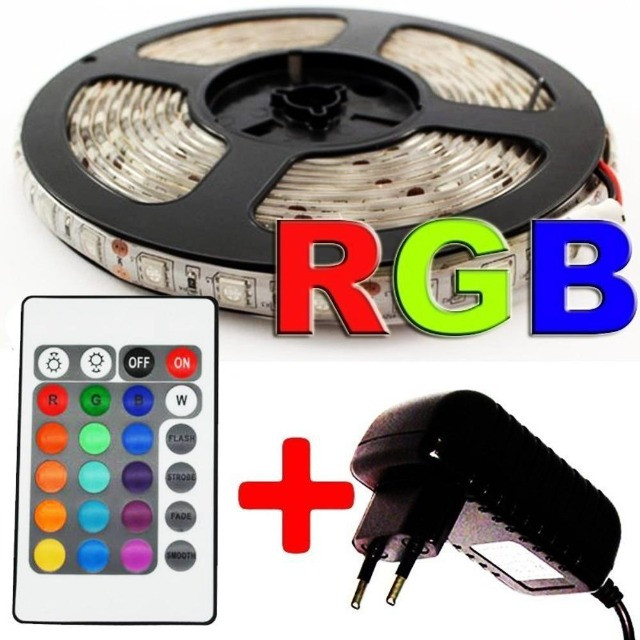 Fita Led RGB 5050 Rolo 5m 300 Leds com Controle Remoto - Foto 3