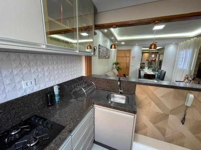 Lindo Apartamento Residencial Tulipas Todo Reformado e Mobiliado - Foto 17