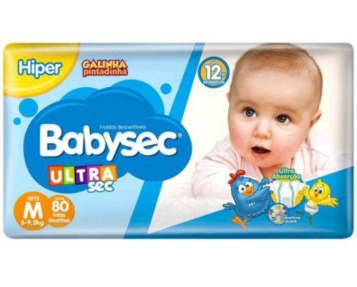 Fralda Babysec UltraSec Galinha Pintadinha M com 80 unidades.<br><br>