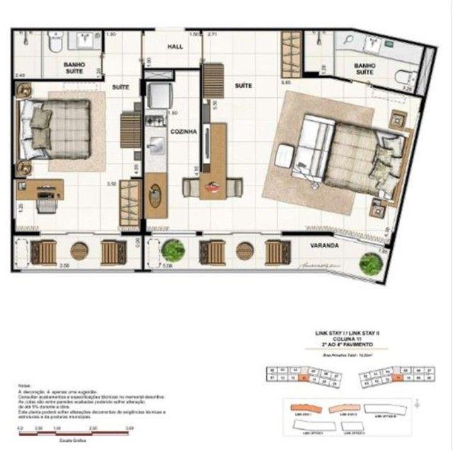 Apartamento à Venda Link Stay na Barra da Tijuca de 78m² com 2 suítes 4 banheiros e 1 vaga - Foto 12