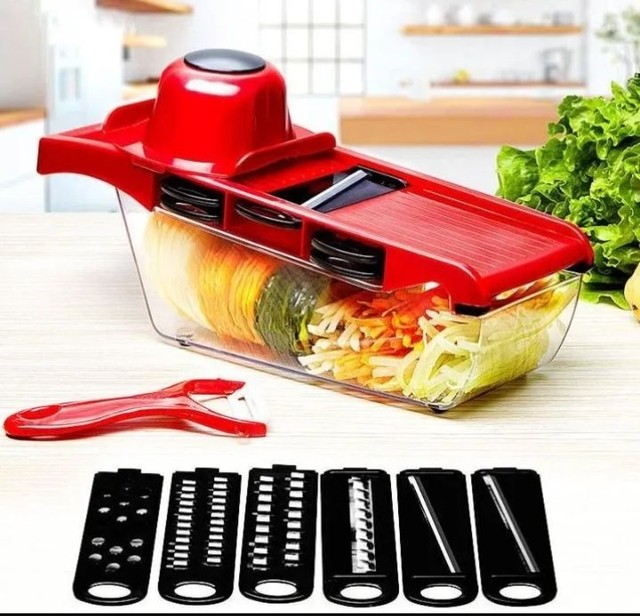 Kits cortador ralador fatiador ótimo pra fazer diversos tipos de salada só 65 REAIS - Foto 4