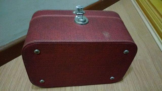 Frasqueira de couro anos 50 - Foto 3