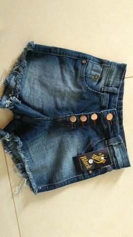 Shorts jeans cintura alta