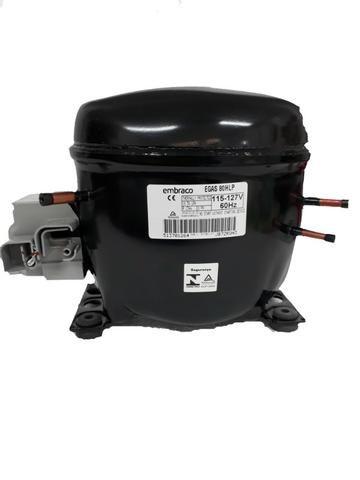 Compressor Embraco 1/4+ 127v R134a Egas 80 New - Foto 2
