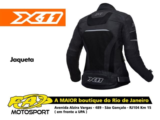b2eb0c44f Jaqueta Moto Ventilada Feminina Impermeável e Ventilada X11 Breeze Preta