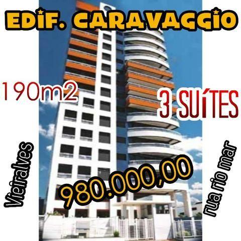 Caravaggio com 3 suítes + escritório, 3 vagas + dependência (Rua rio mar Vieiralves)