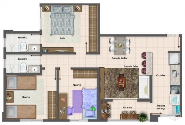 Apartamento 3 quartos com suítes próximo ao Bretas e Pecuária - Vila Jaraguá Oportunidade - Foto 4