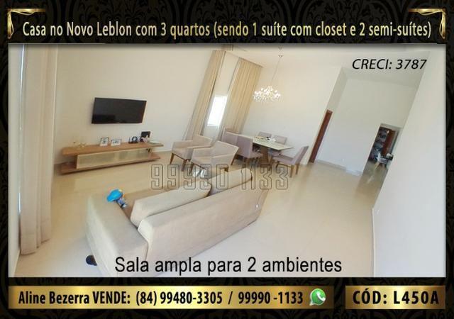 Ampla casa no Novo Leblon com 3 quartos, já com móveis projetados - Foto 2