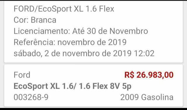 Ecosport 2009 R$18.499 ou troco em XRE de 2013 acima - Foto 8