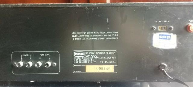 Tape Deck Cce Cd 7000 - Foto 2