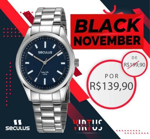 Mega Promoção de Relógio Seculus Masculino de R$ 199,90 por R$ 139,90 - Foto 5