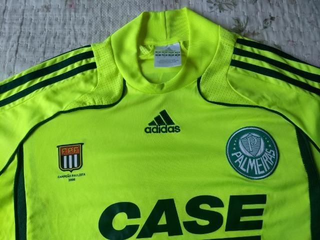 Camisa Palmeiras Adidas verde limão marca texto patch campeão - Foto 2