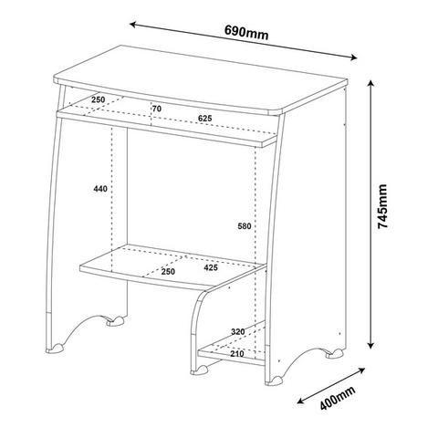 Mesa para computador na cor branca pixel - Foto 4