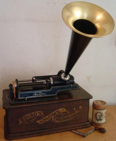Fonógrafo Gramofone Thomas Edison 1900