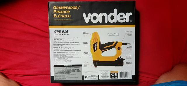 Grampeador/pinador elétrico GPE 916 220 V~ Vonder - Foto 2