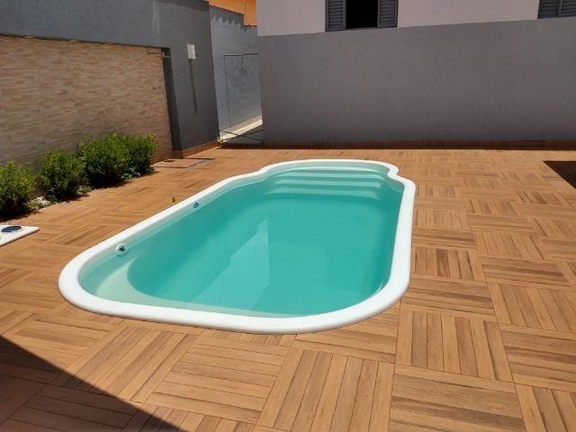 Excelente casa com piscina no bairro valparaiso em patos de minas/mg - Foto 14