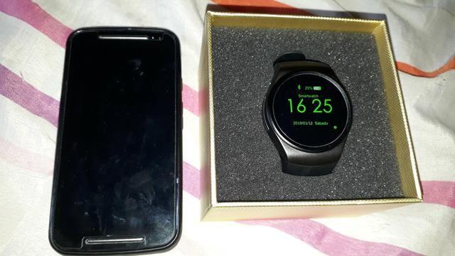 Moto g2 + relógio digital 600$