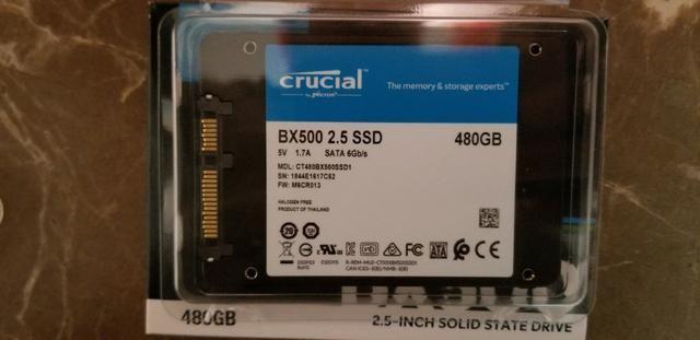 HD Crucial Bx500 Ssd 480gb Sata III solid state interno samsung